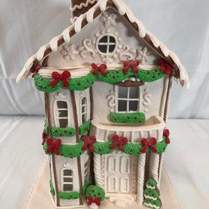 """13"""" Illuminated Gingerbread Townhouse by Valerie"""